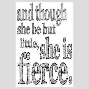 She is Fierce Shakespeare Wall Art
