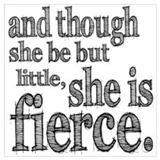 She is Fierce Shakespeare Wall Art Poster