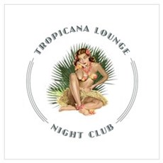 Tropicana Lounge Girl 1 Wall Art Poster