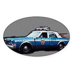 New York City Police Car Sticker (Oval)