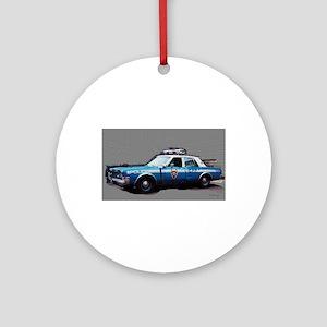 New York City Police Car Ornament (Round)