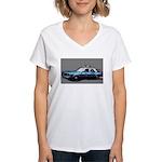 New York City Police Car Women's V-Neck T-Shirt