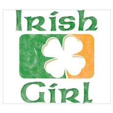 Irish Girl Wall Art Poster