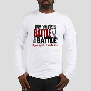 My Battle Too Brain Cancer Long Sleeve T-Shirt