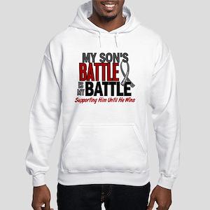 My Battle Too Brain Cancer Hooded Sweatshirt