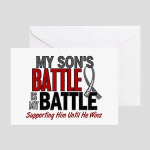 My Battle Too Brain Cancer Greeting Card