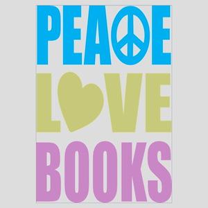 Peace Love Books Wall Art