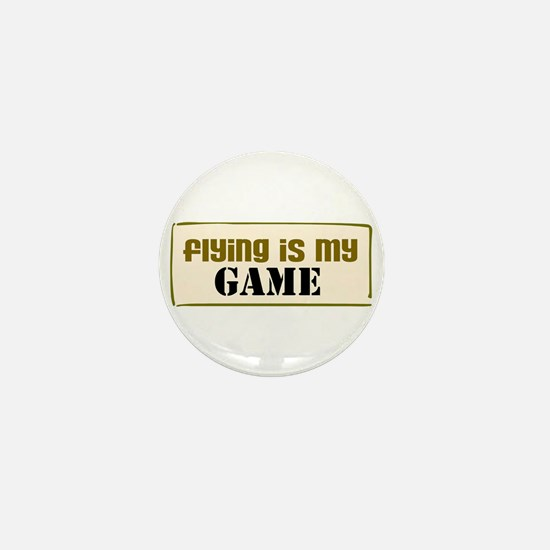 Flying is my Game (pink) Mini Button