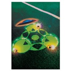 UFOs and Crop Circles Wall Art Poster