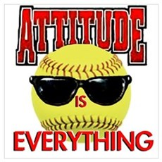 Attitude is Everything Wall Art Poster