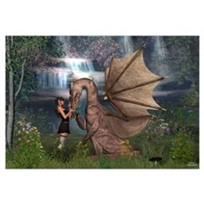 Dragon Love Wall Art Canvas Art