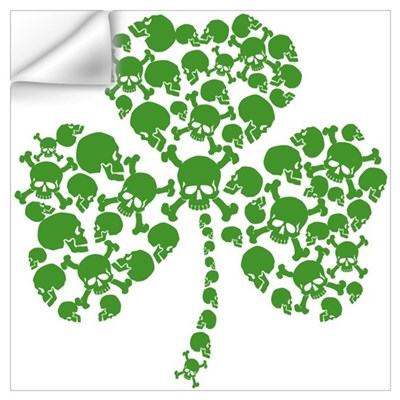 Irish Shamrock Skulls Wall Art Wall Decal