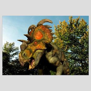 A Albertaceratops wanders a Cretaceous forest