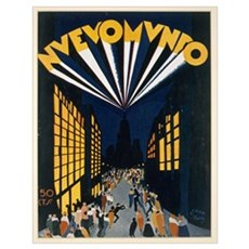 Nuovo Mondo, poster advertising a Radio City style Poster