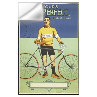 Poster advertising 'The Perfect' bicycle, 1895 (co Wall Decal