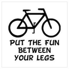 Bike Fun Wall Art Poster