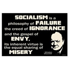 Churchill Socialism Quote Wall Art Poster