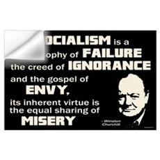 Churchill Socialism Quote Wall Art Wall Decal