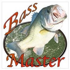 Bass master Wall Art Framed Print