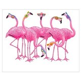 Pink flamingo Wrapped Canvas Art