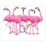 Pink flamingo Framed Prints
