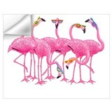 Pink flamingo Wall Decals