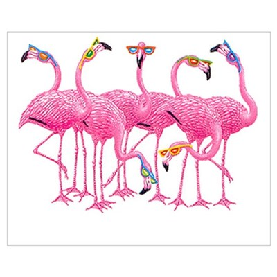 Cool Flamingoes Wall Art Canvas Art