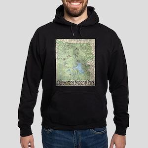 Yellowstone Topo Map Hoodie (dark)