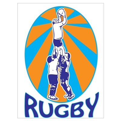 rugby line out Wall Art Poster