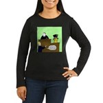 Clearly Nuts Women's Long Sleeve Dark T-Shirt