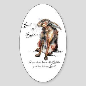 Jack the Rabbit 1 Sticker (Oval)