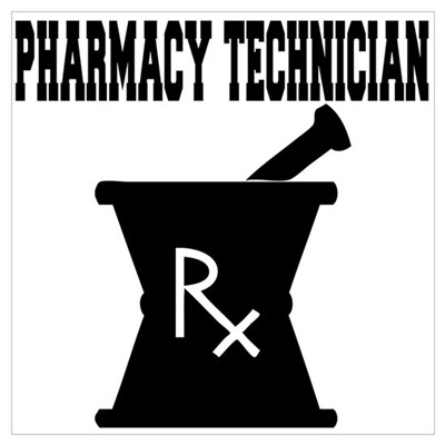 Pharmacy Technician Rx Wall Art Poster