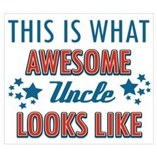 Awesome Uncle Designs Wall Art Poster