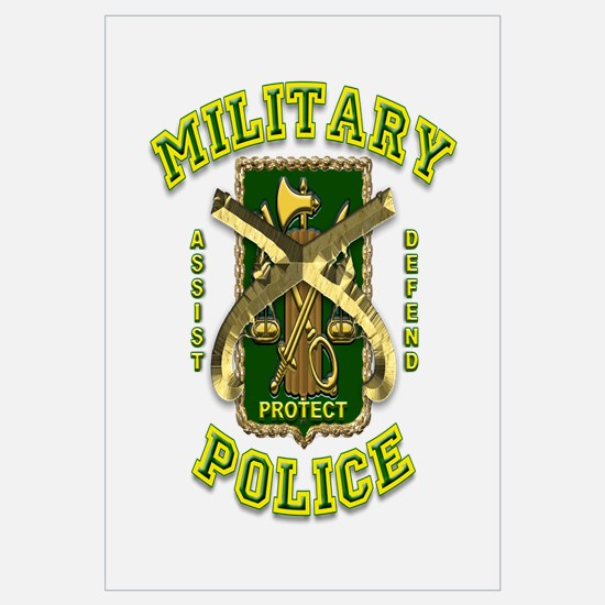 US Army Military Police Gold Wall Art