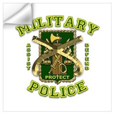 US Army Military Police Gold Wall Art Wall Decal