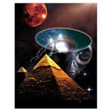 Ancient aliens Wrapped Canvas Art