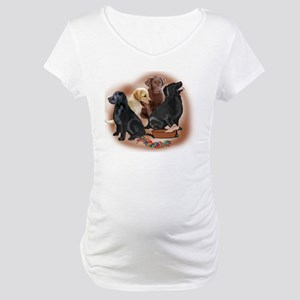 lab puppies and toys Maternity T-Shirt