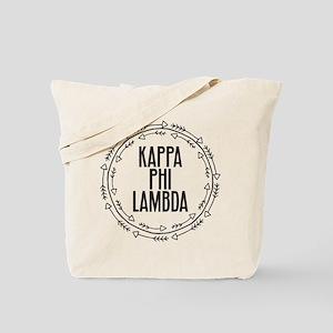 Kappa Phi Lambda sorority circle arrow Tote Bag