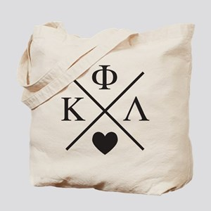 Kappa Phi Lambda sorority cross heart Tote Bag