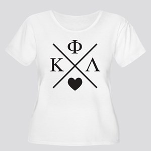 Kappa Phi Lambda sorority cross heart Plus Size T-
