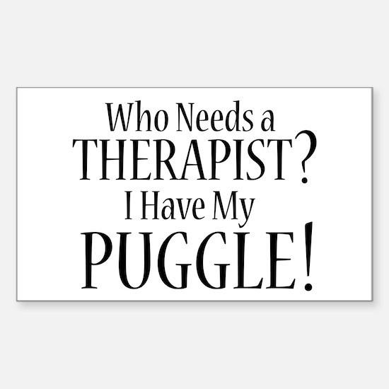 THERAPIST Puggle Sticker (Rectangle)