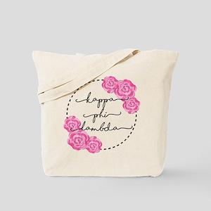 Kappa Phi Lambda sorority pink roses Tote Bag