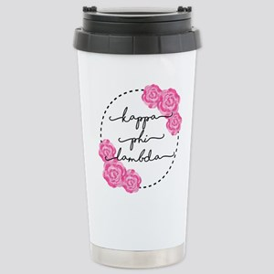 Kappa Phi Lambda sorority pink roses Mugs