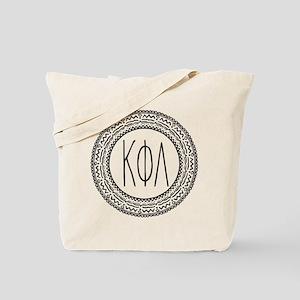 Kappa Phi Lambda sorority medallion Tote Bag