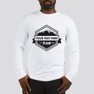 Pi Alpha Phi Mountains Ribbon Long Sleeve T-Shirt