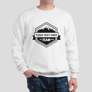 Pi Alpha Phi Mountains Ribbon Personali Sweatshirt
