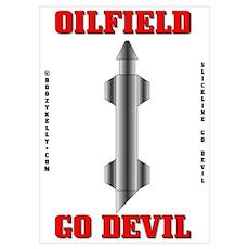 Oil Field Go Devil Wall Art,Oil,Gas, Poster