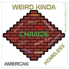 HIA Brick Wall Change design Wall Art Poster