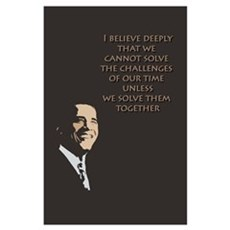 Obama: Solving Problems Wall Art Poster