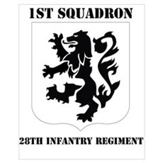 DUI - 1st Bn - 28th Infantry Regt with Text Mini P Poster